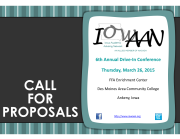 ANNOUNCEMENT Call for Proposals